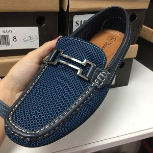 Other - Men's blue patterned loafer